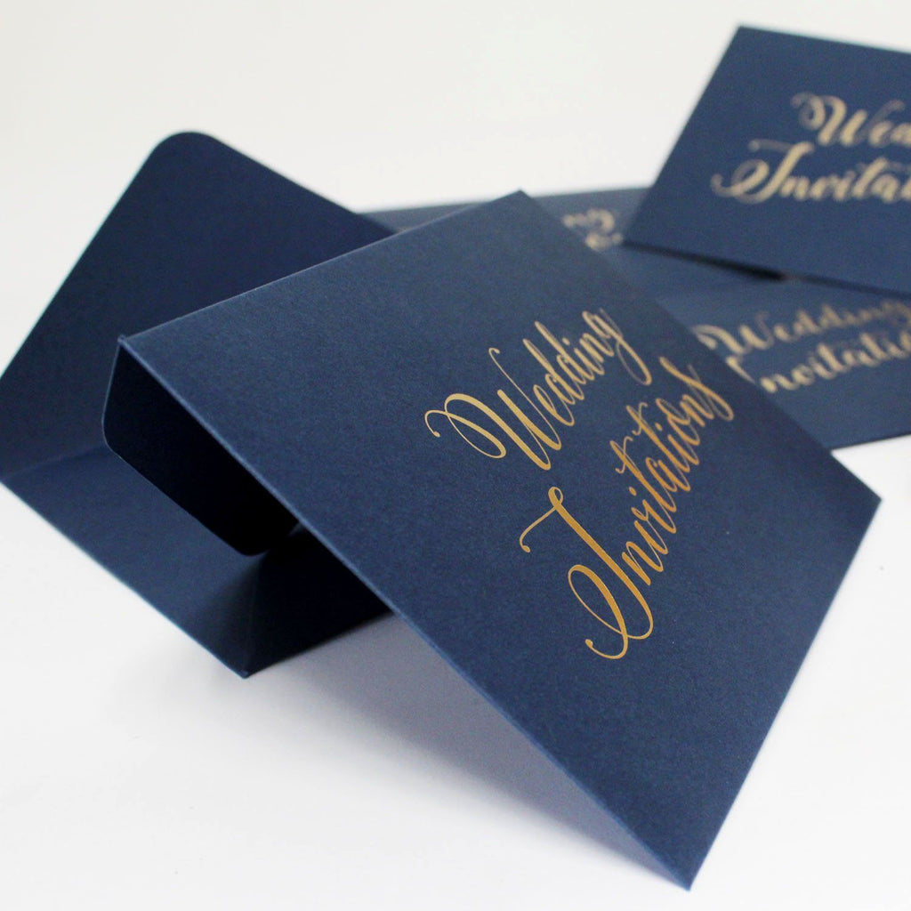 Picky Bride Wedding Invitations Envelope Pearl Paper Envelopes Elegant Hot Stamping Invitation Envelope Picky Bride Navy Blue 100 x $1.0ea.