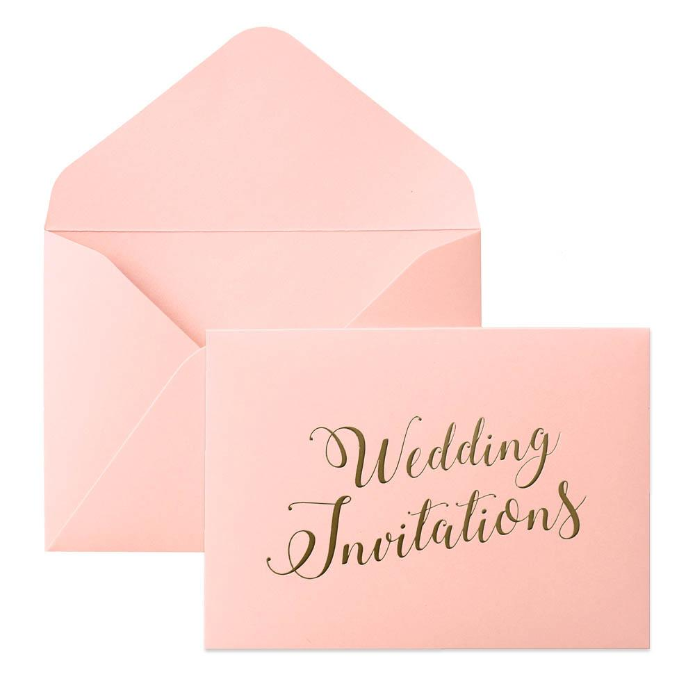 Picky Bride Wedding Invitations Envelope Pearl Paper Envelopes Elegant Hot Stamping Invitation Envelope Picky Bride Pink 100 x $1.0ea.