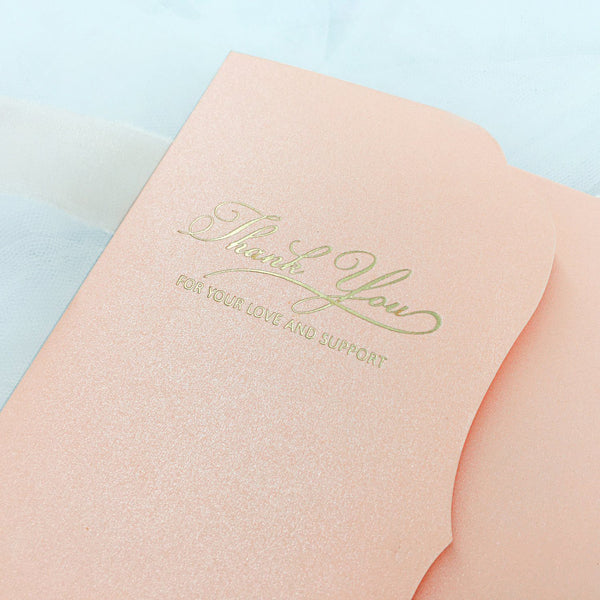 Pink Pocket Wedding Invitations Foil invitations Personalized Wedding Cards Picky Bride