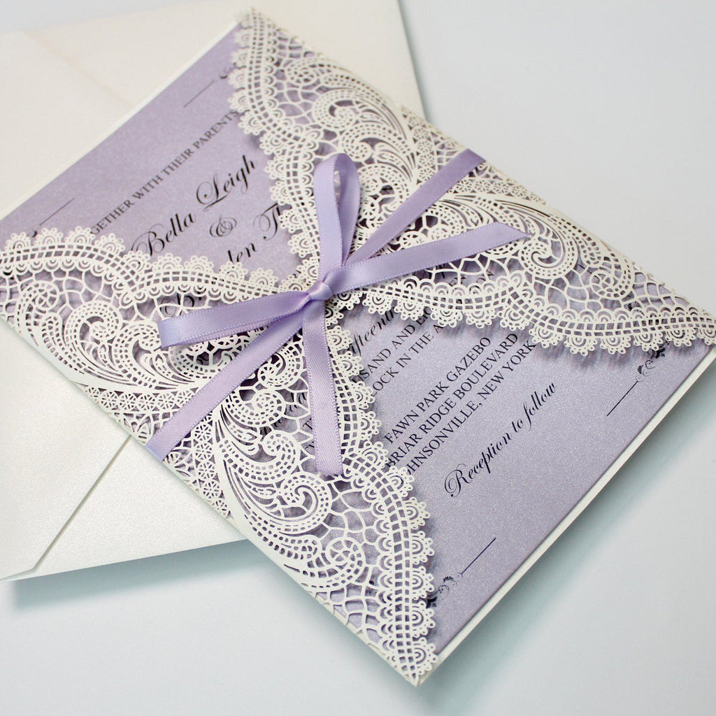 Romantic Bridal Shower Invitations, Lace Baby Shower Invitations Picky Bride