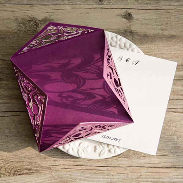 Romantic Purple Wedding Invitation Cards Picky Bride