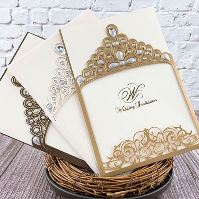 Royal Princess Invitations Luxury Metallic Sparkly Wedding Cards Picky Bride