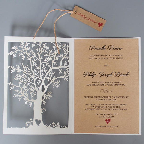Rustic Tree Wedding Invitation Fall Wedding Invite Picky Bride