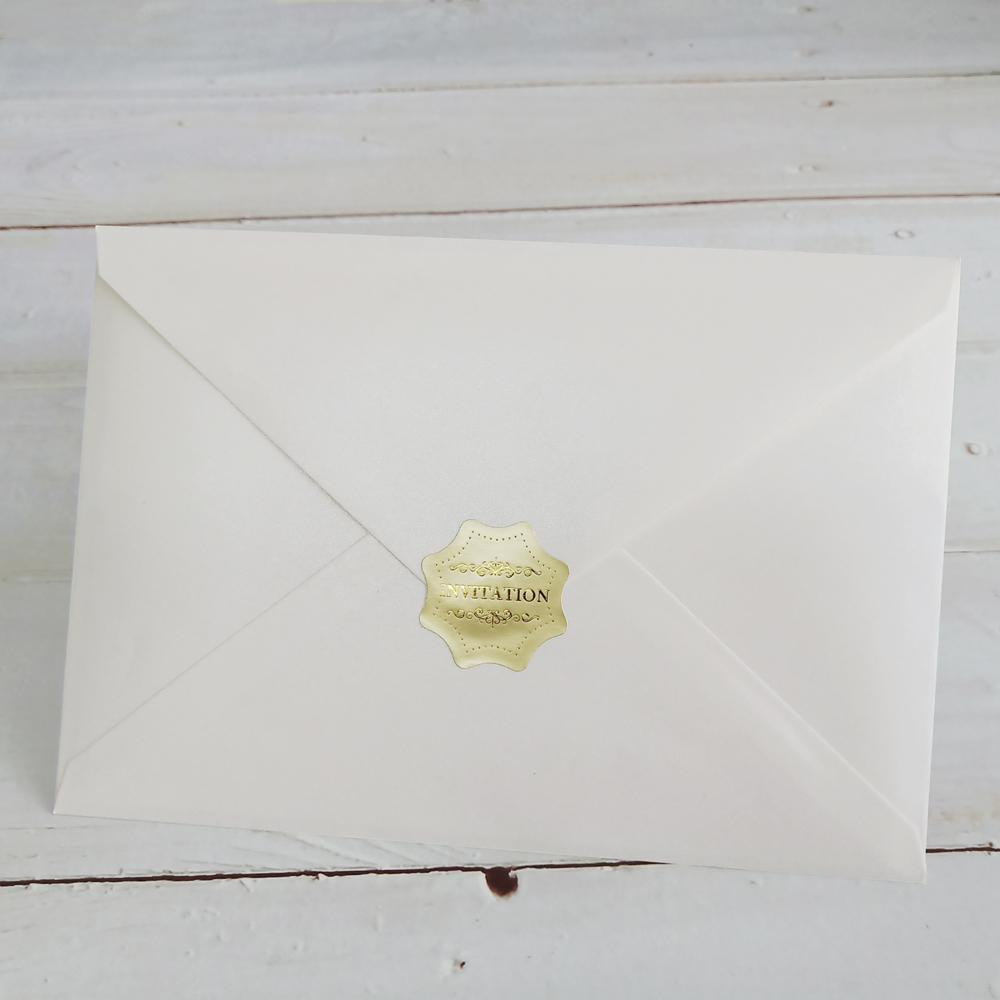 Rustic Wedding Invitation; White and Kraft Wedding Invitation Cards Picky Bride