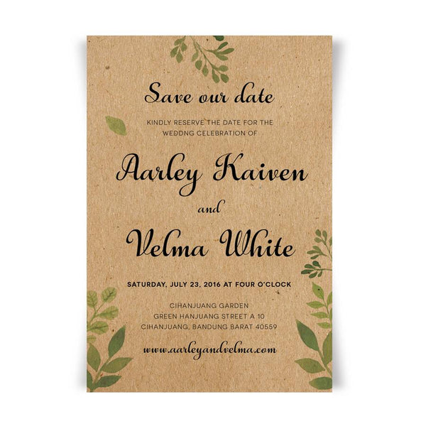 Rustic Wedding Invitations with RSVP Cards Kraft Paper Invites Set Save the Date Menu Cards Picky Bride