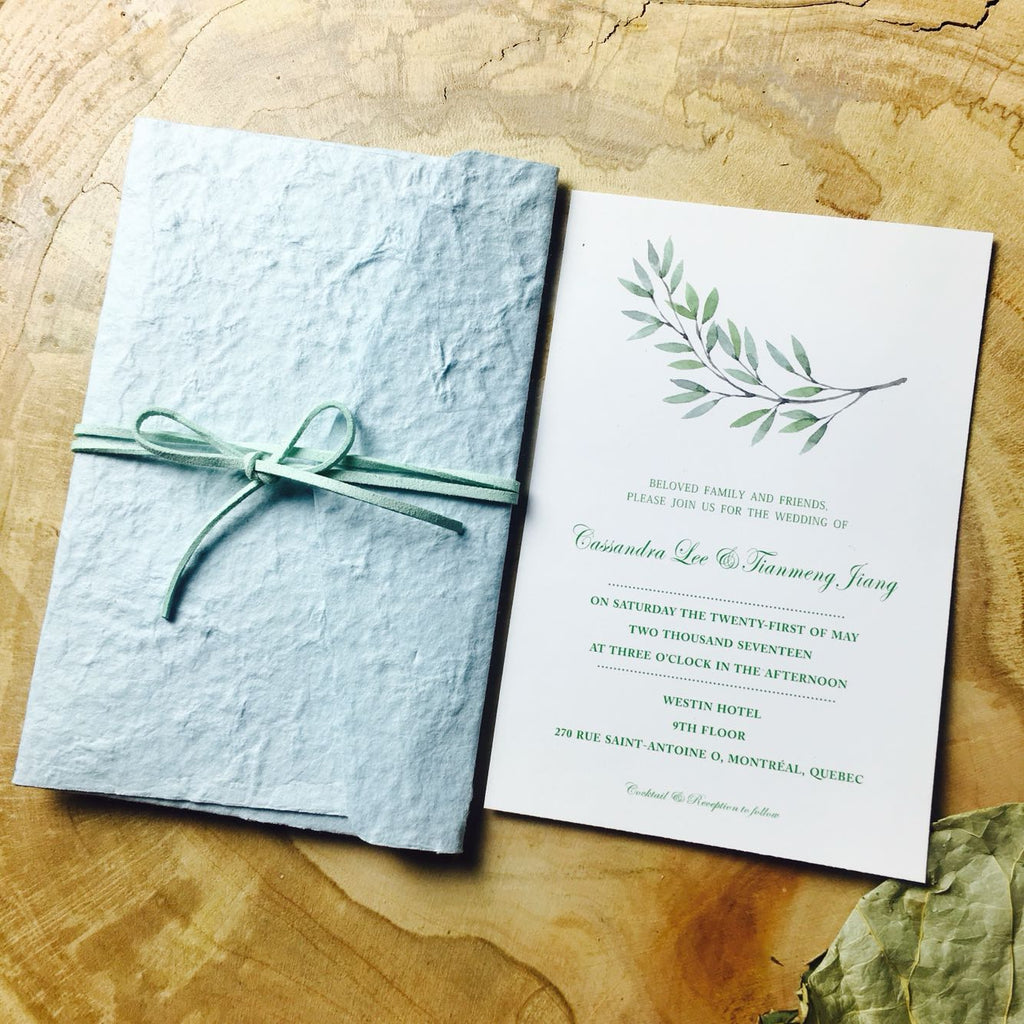 Tiffany Handmade Paper Invitations by Picky Bride Picky Bride