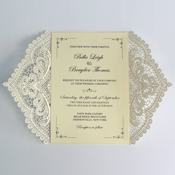 Vintage Wedding Invitations, Gate Invitation Cards with RSVP Picky Bride