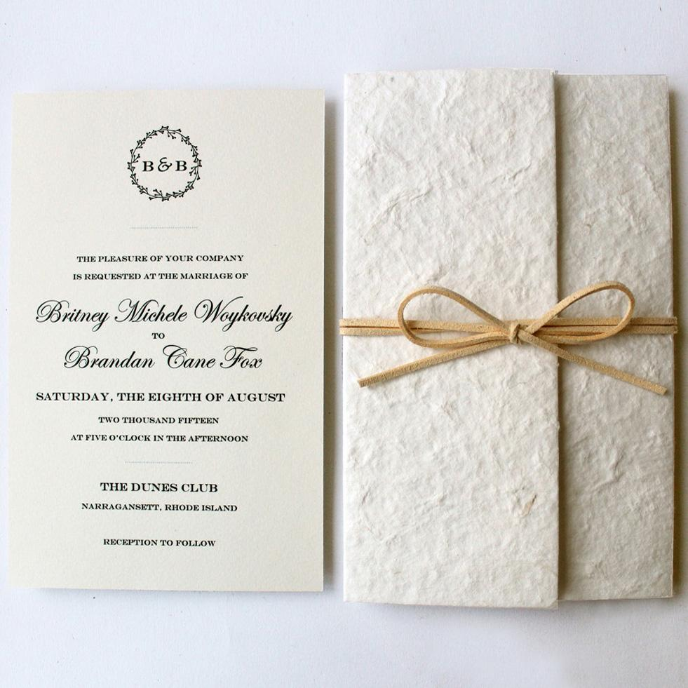 Vintage Wedding Invitations, Ivory Wedding Invitation Picky Bride