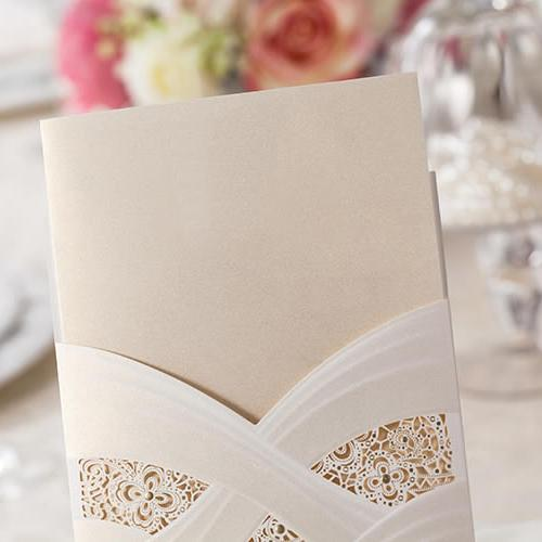 White Lace Wedding Invitations Unique Wedding Invitation - Set of 50pcs Picky Bride