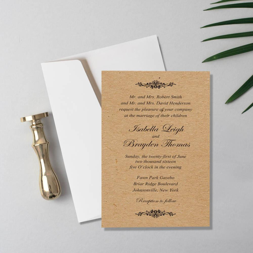 White Pocket Wedding Invitations Picky Bride