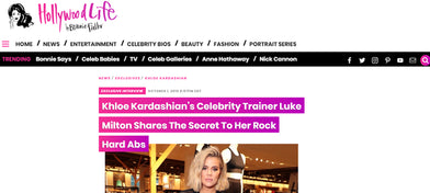 Khloe Kardashian and her celebrity trainer Luke Milton