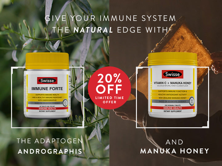 Get 20% off Swisse Immune products