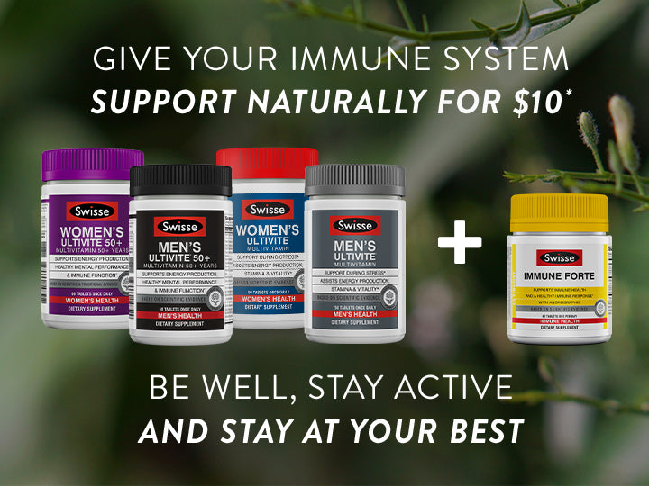 Swisse Ultiboost Immune Forte + Ultivite Multivitamins for $10