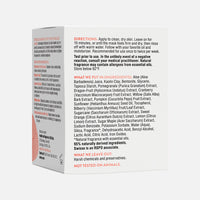 Swisse Cranberry Pore Perfecting Clay Mask carton back side