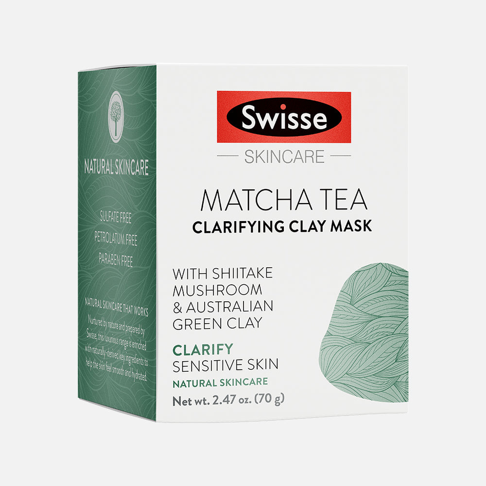 Swisse Matcha Tea Clarifying Clay Mask carton front side