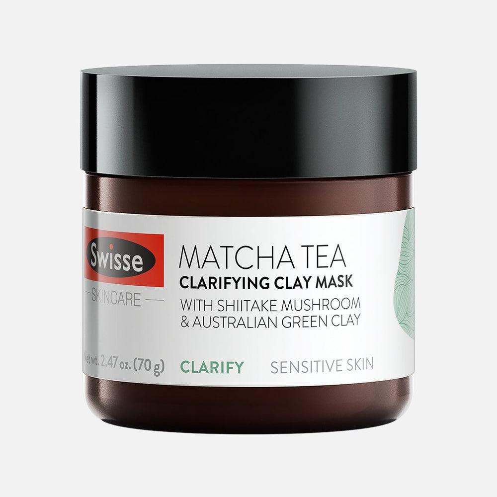 Swisse Matcha Tea Clarifying Clay Mask jar front side