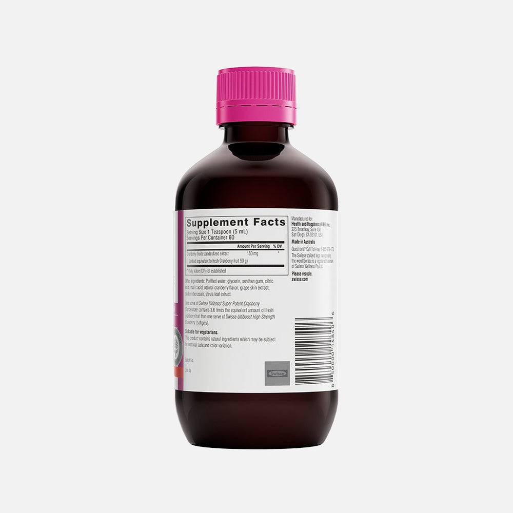 Swisse Ultiboost Super Potent Cranberry Concentrate Liquid right side