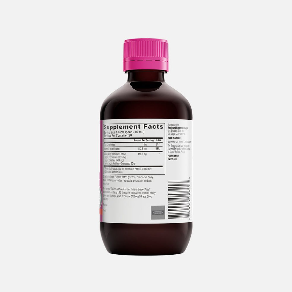 Swisse Ultiboost Super Potent Grape Seed Concentrate Liquid right side