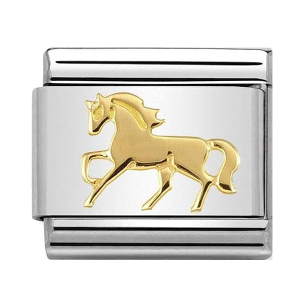 Composable Classic Link 'Galloping Horse' 18ct YG & S/Steel - gsmshop.com.au