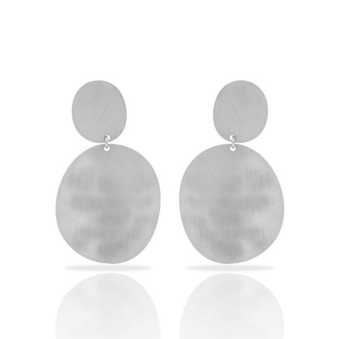 RAS 'Zen' Silver Plated Stud Earrings
