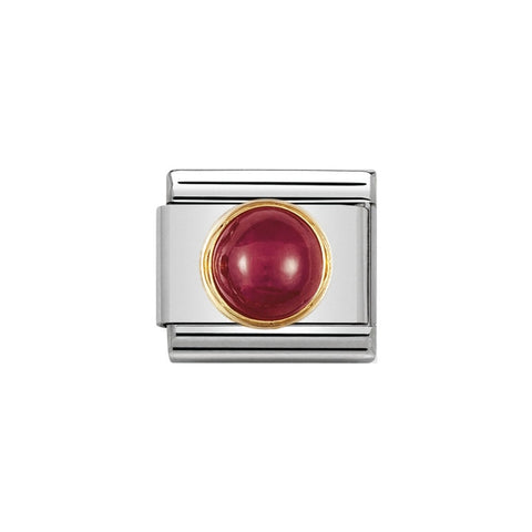 Composable Classic Link Round Ruby with 18ct YG Bezel
