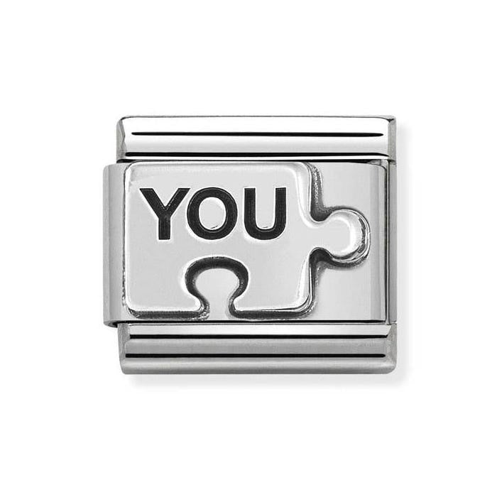 Composable Classic Link 'You Puzzle' Silver