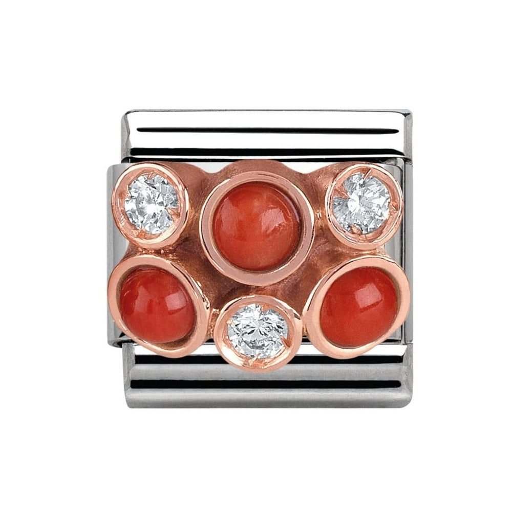 Composable Classic Link '9ct RG Red Coral Cluster' - gsmshop.com.au