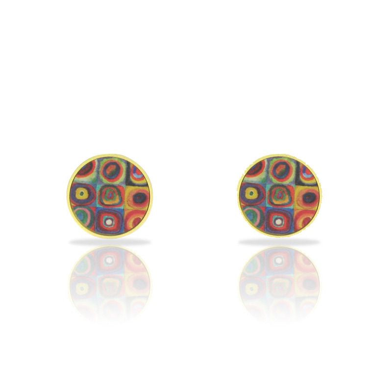 RAS 'Kadinsky' Gold Plated Stud Earrings