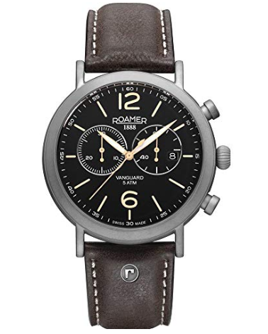 Roamer Mens Chronograph Watch Brn/Blk