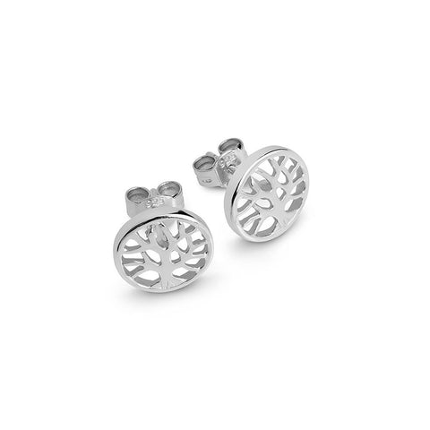 Sterling Silver 'Tree of Life' Stud Earrings
