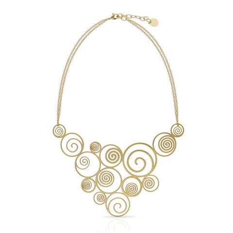 RAS 'Spiral' Gold Plated Necklace