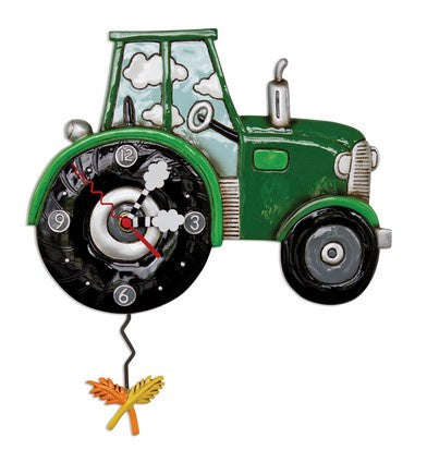 'Tractor Time' Clock - Green