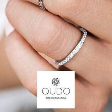 QUDO Eternity Spacer Ring