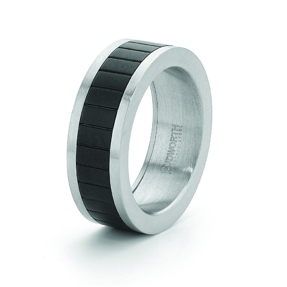 Cudworth Stainless Steel/IP Black Ring - gsmshop.com.au