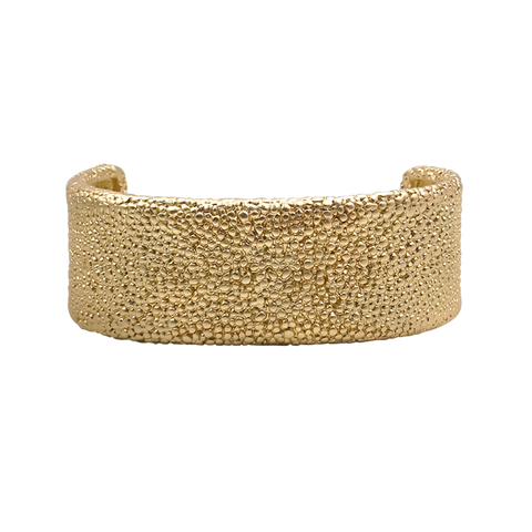 Cuff Bracelet with Magnetic Clasp - Gold