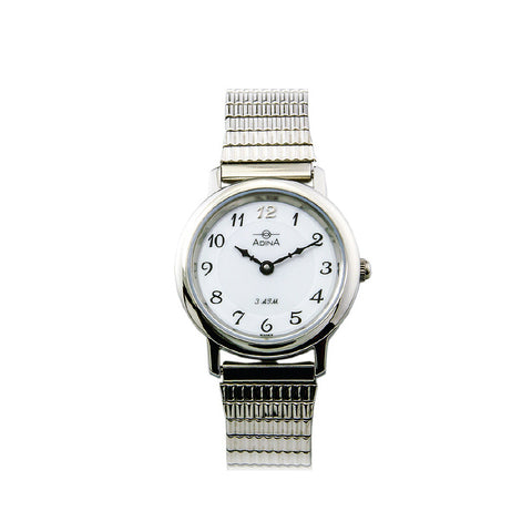 ADINA Ladies NK40 Watch - Silver/White