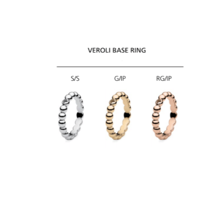 Qudo Veroli Narrow Bubble Base Ring - gsmshop.com.au