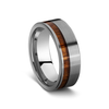 Tungsten Steel Mens Ring with Wood Inlay - gsmshop.com.au