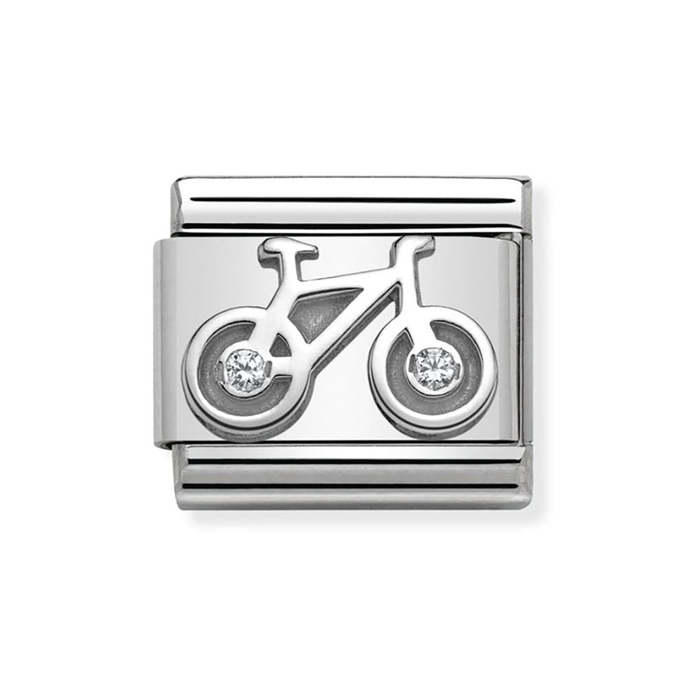 Composable Classic Link 'Bicycle' Silver & CZ - gsmshop.com.au