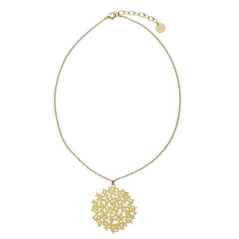 RAS 'Hydrangea' Gold Plated Necklace