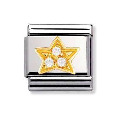 Composable Classic Link '18ct Yellow Gold Star with CZ' - gsmshop.com.au