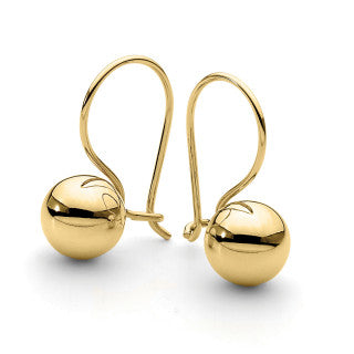 9CT 8mm Euroball Earrings