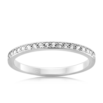 'Peter W Beck' 9ct White Gold Diamond Set Band