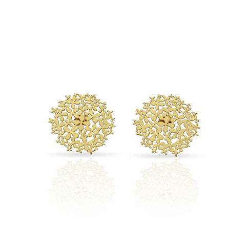 RAS 'Hydrangea' Gold Plated Stud Earrings