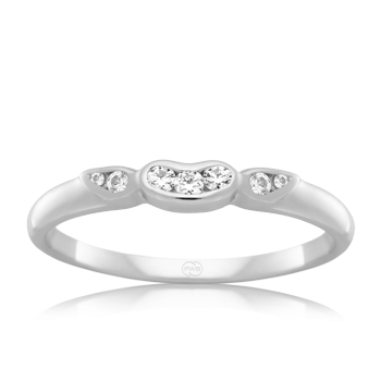 'Peter W Beck' 9ct White Gold Diamond Set Fitted Ring