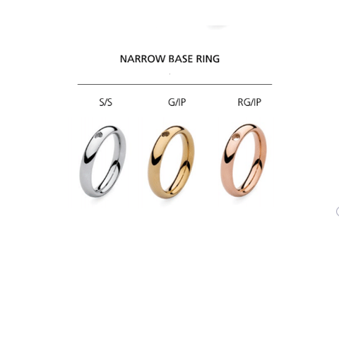 Qudo Famosa Narrow Base Ring