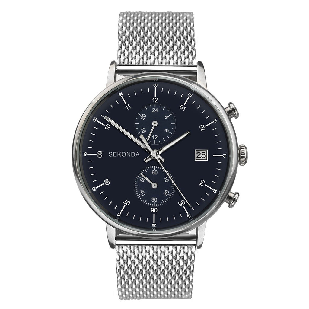Sekonda Mens Black & Silver Watch - gsmshop.com.au