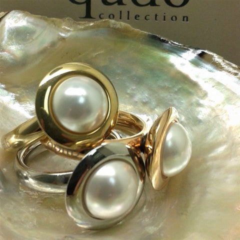 Qudo Famosa Tondo 16mm White Pearl Top
