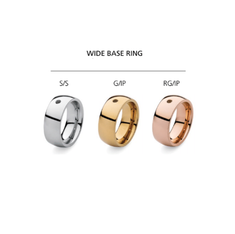 Qudo Famosa Wide Base Ring