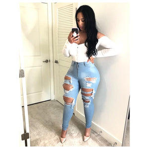Bomb Ass Fitted High Waist Jeans